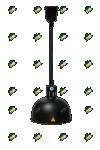 Лампа инфракрасная HURAKAN HKN-DL750 (черная)