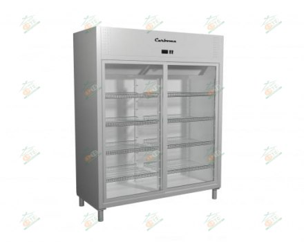Холодильный шкаф со стеклянными дверями-купе Carboma R1400K