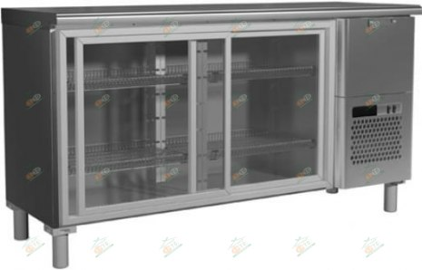 Холодильный стол с прозрачными дверцами Carboma BAR-360К