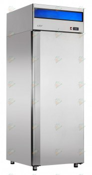 Холодильный шкаф ШХс-0,5-01 нерж. ВЕРХНИЙ АГРЕГАТ