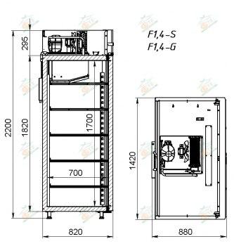 Шкаф морозильный АРКТО F1,4-S (краш)